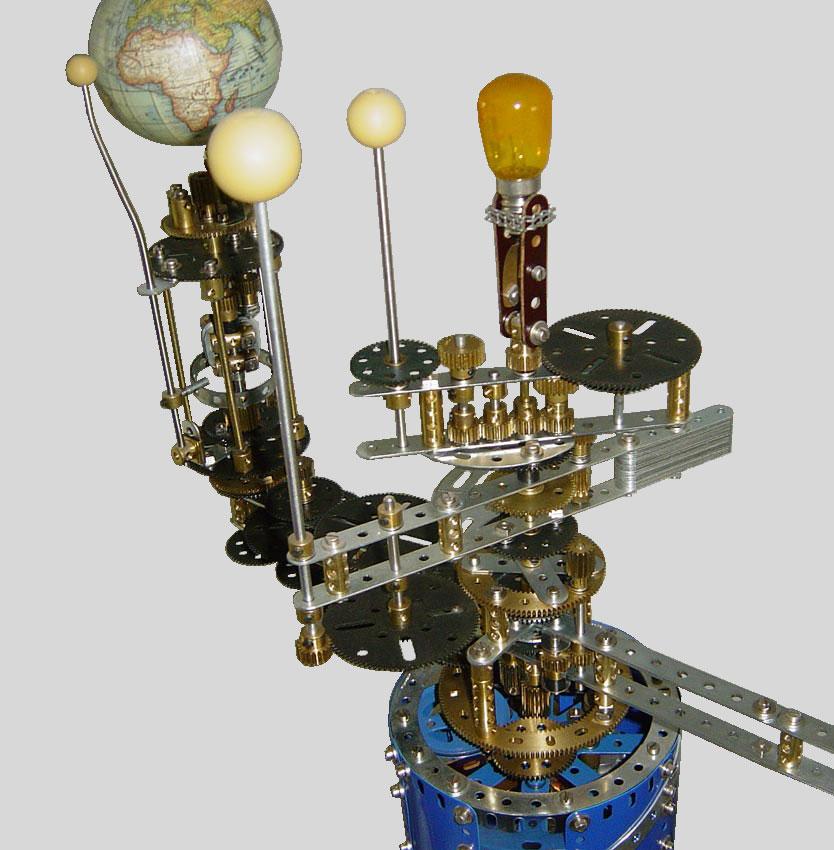 Meccano Three Planet Orrery